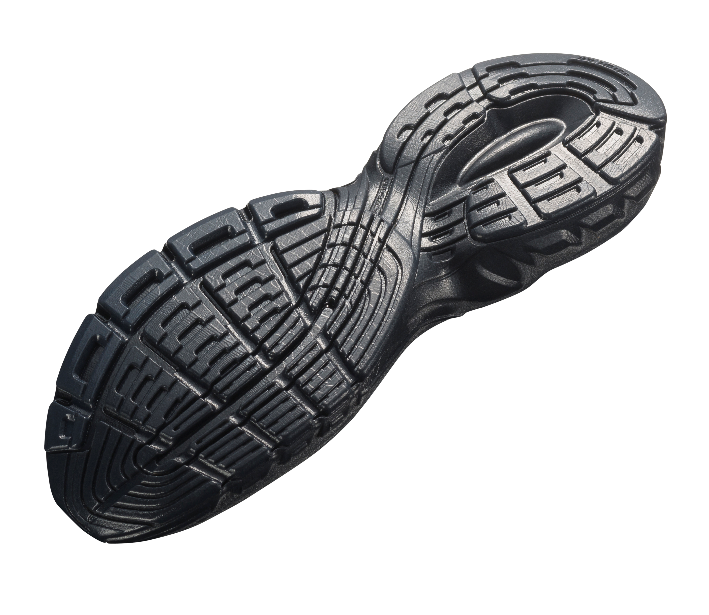 Shoe sole printed with rubberlike Tango Black.