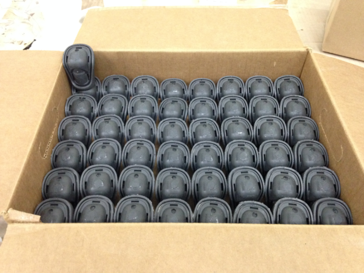 Solidify 3D printed a master part to create these silicon rubber molds for their automotive client