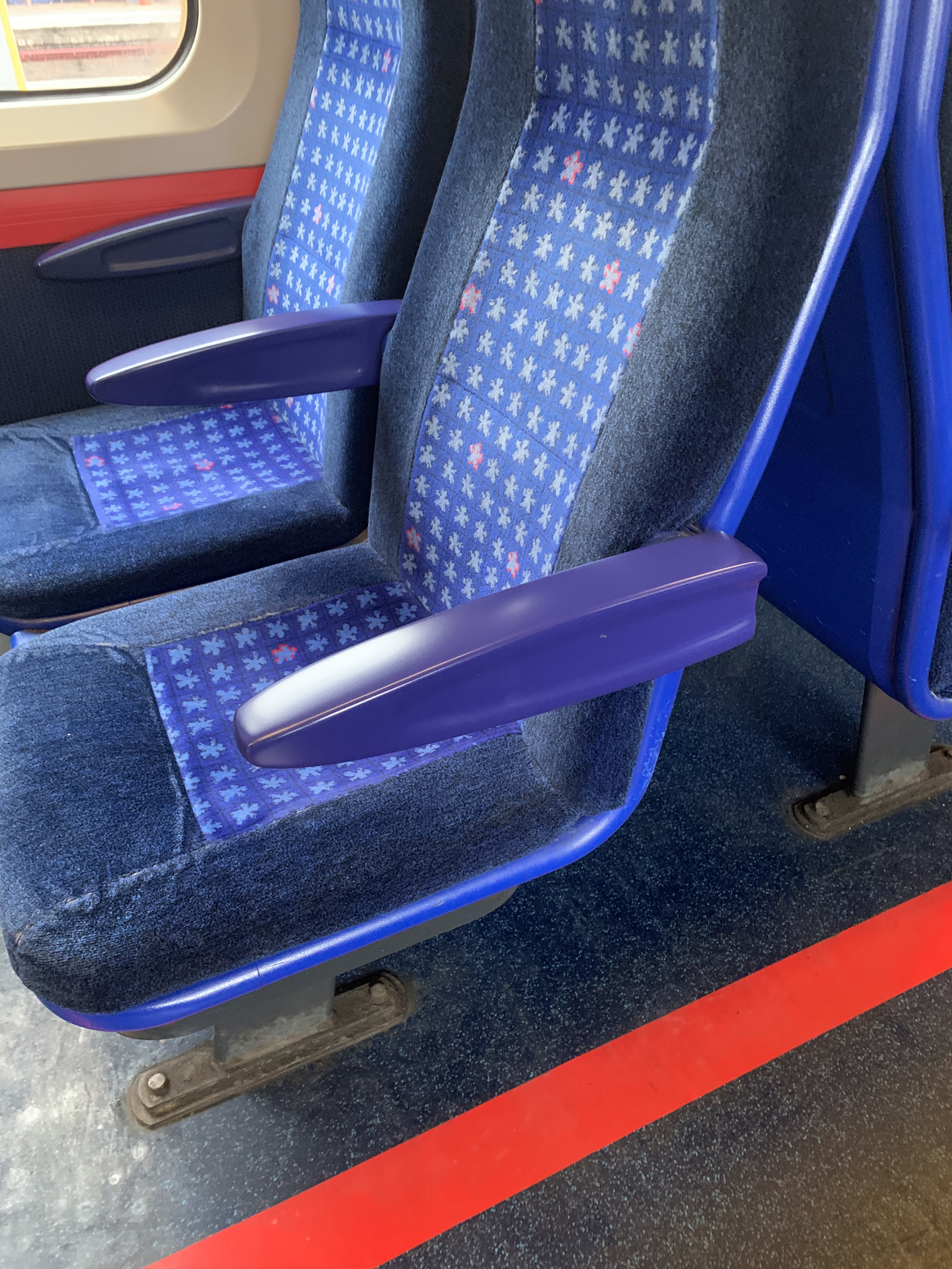 3D printed armrest on Chiltern Railways train – produced 94% faster compared to traditional manufacturing methods.